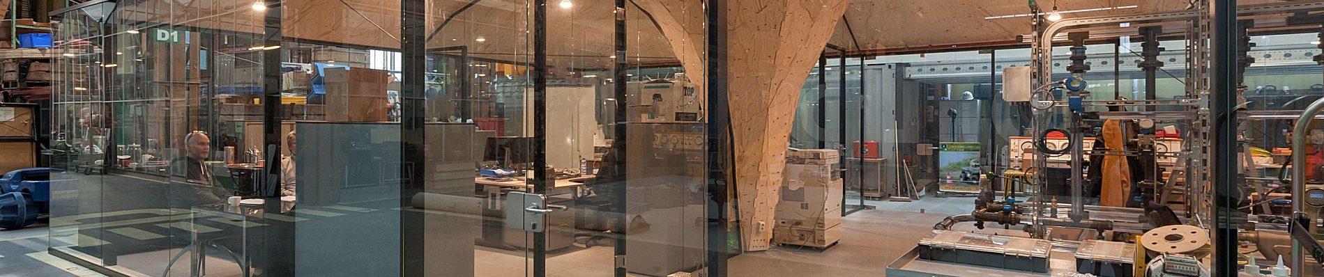 glaswanden voor Studio RAP, Rotterdam